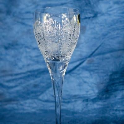 Krištálové brúsené poháre 90 ml set 6 kusov