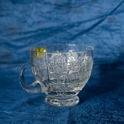 Krištálové brúsené šálky na kávu 250 ml set 6 kusov
