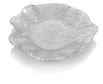 Tanier FOL sivá perleť D28 cm