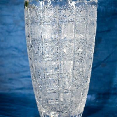 Krištáľová brúsená váza 40 cm
