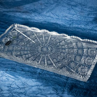 Krištálová brúsená tácka 32 cm