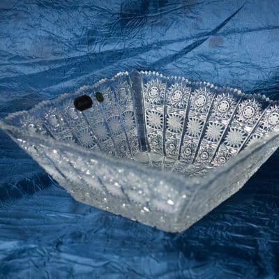 Krištálová brúsená miska 22 cm