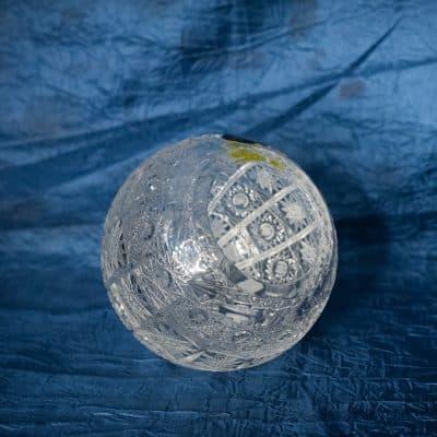 Krištálová brúsená nádoba na šperky 14 cm