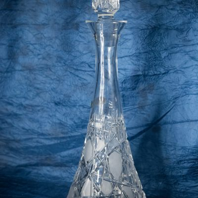 Krištáľová brúsená wine fľaša 1200 ml