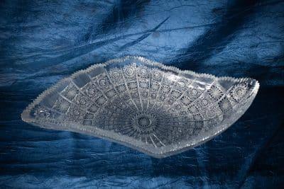 Krištálová brúsená miska 45 cm