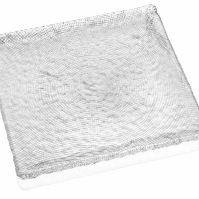 Tanier DIAMAN číry 31,5 x 31,5 cm H1,5 cm