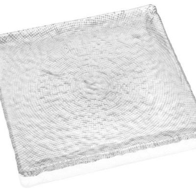 Tanier DIAMAN číry 27,5 x 27,5 cm H1,5 cm