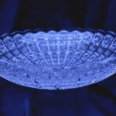 Krištálová brúsená miska 34,5 cm