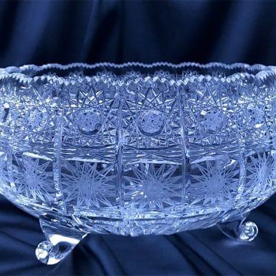 Krištálová brúsená miska 26 cm