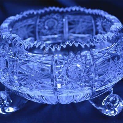 Krištálová brúsená miska 11 cm