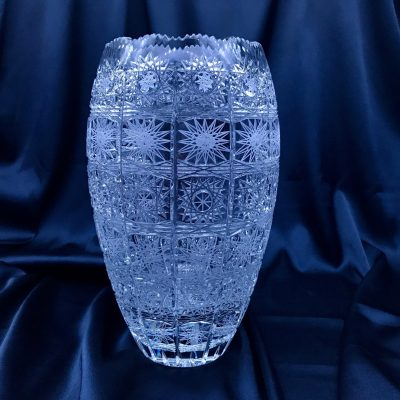 Krištáľová brúsená váza 25,5 cm
