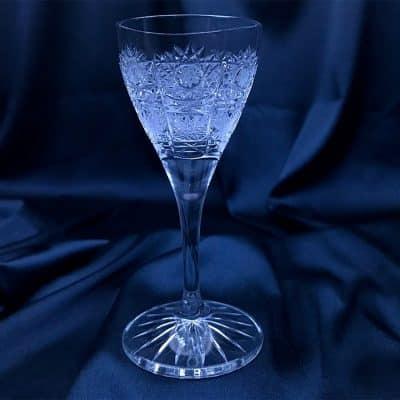 Krištálové brúsené poháre 40 ml set 6 kusov