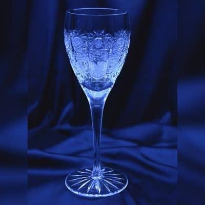 Krištálové brúsené poháre 220 ml set 6 kusov
