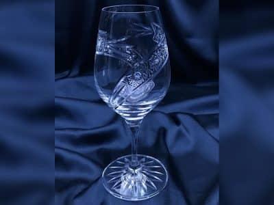 Krištálové brúsené poháre 240 ml set 6 kusov