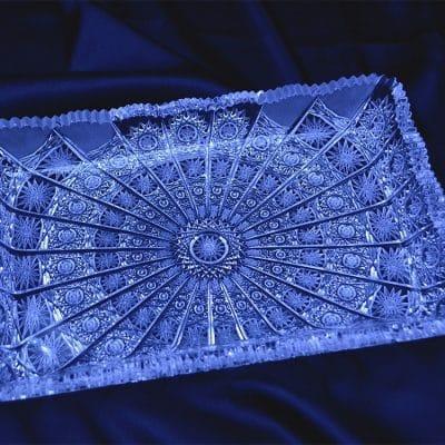 Krištálová brúsená tácka 26 cm