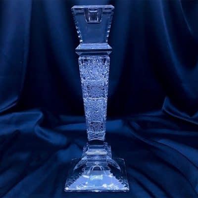 Krištálový brúsený svietnik 25,5 cm