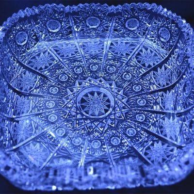 Krištálový brúsený tanier 13 cm
