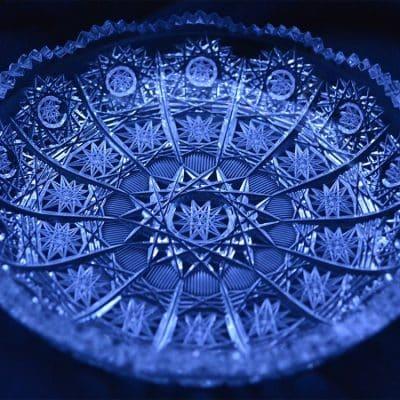Krištálový brúsený tanier 14,5 cm