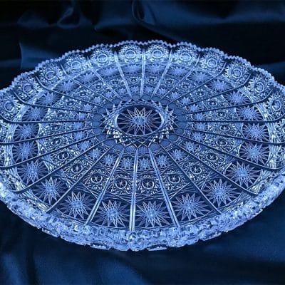 Krištálový brúsený tanier 28 cm