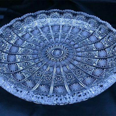 Krištálový brúsený tanier 30 cm