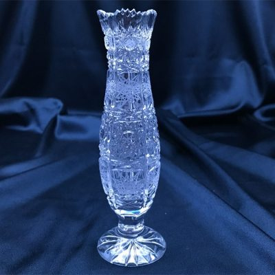 Krištáľová brúsená váza 15 cm