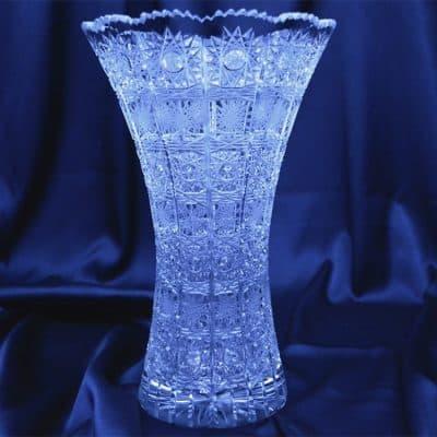 Krištáľová brúsená váza 25 cm