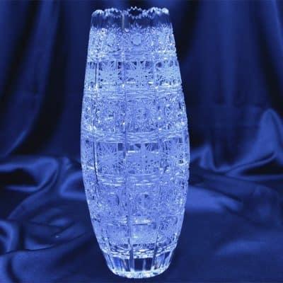 Krištáľová brúsená váza 23 cm