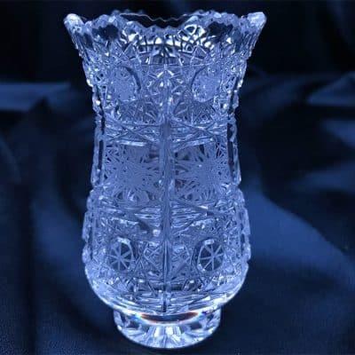 Krištáľová brúsená váza 8,5 cm