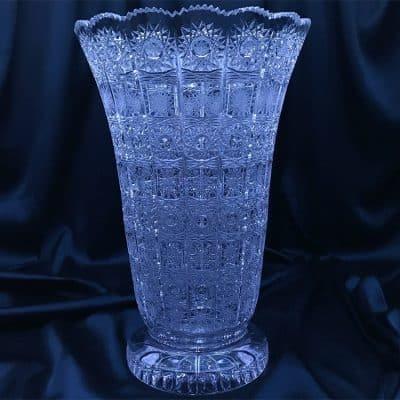 Krištáľová brúsená váza 35 cm