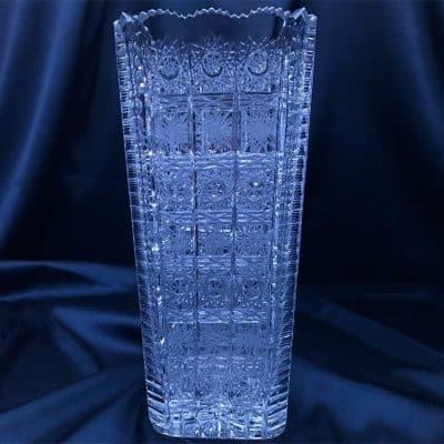 Krištáľová brúsená váza 24,5 cm