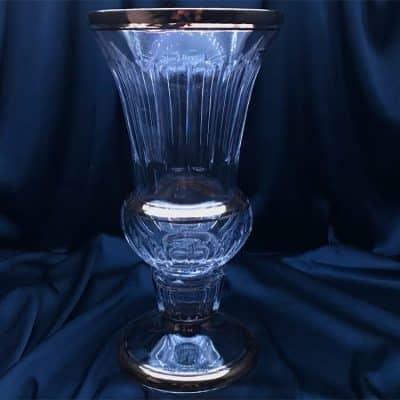 Krištáľová brúsená váza 37 cm