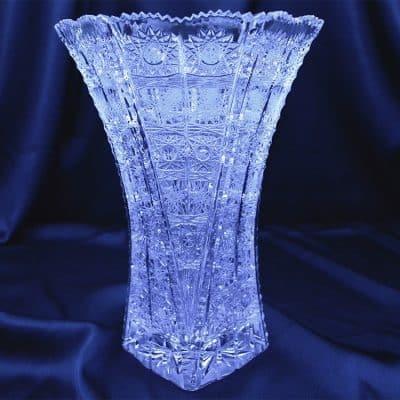 Krištáľová brúsená váza 27 cm