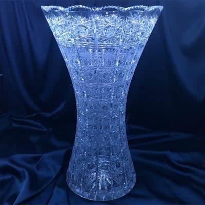 Krištáľová brúsená váza 49,5 cm