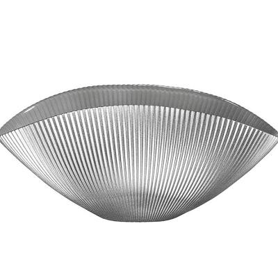 Misa BURA perleťovo sivá s ryhovaním L24 cm